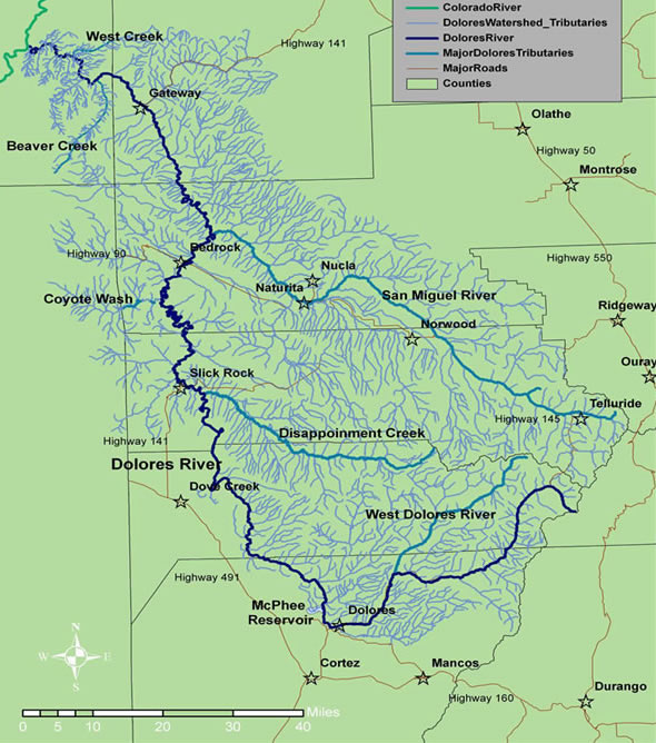 Dolores River Watershed Map